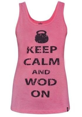 Damska koszulka KEEP CALM AND WOD ON 1020
