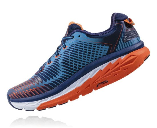 Hoka One One ARAHI - medieval blue/red orange