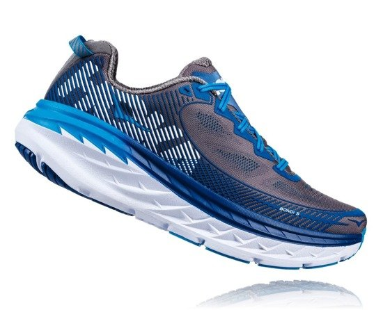 Hoka One One Bondi 5 Wide - Charcoal Gray/True Blue