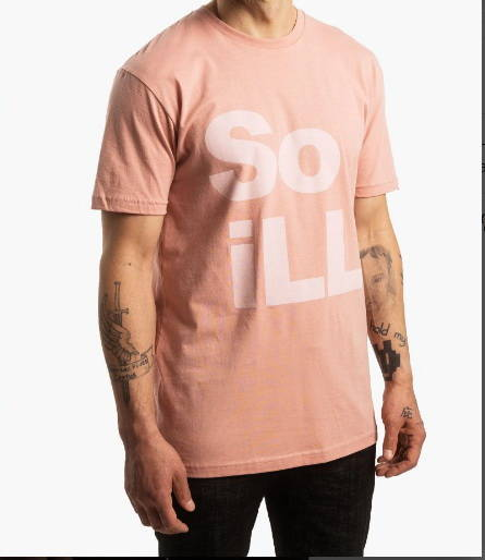 Koszulka So iLL Dirty Pink Stacked Logo Tee